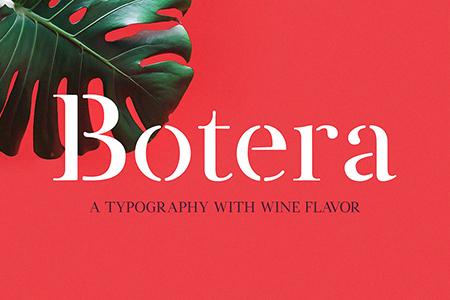 Botera 精美衬线品牌艺术模板字体