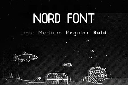 Nord圆润品牌字体