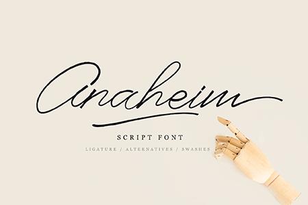 Anaheim清晰细线手写字体