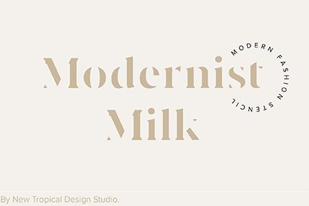 Modernist Milk现代牛奶艺术字体