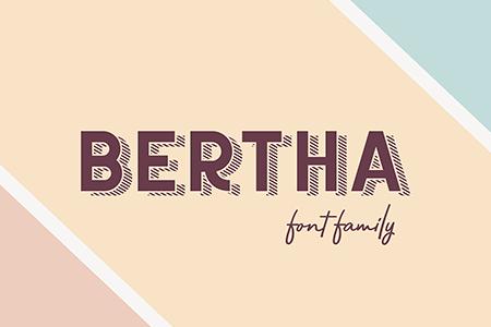 Bertha复古黑胶艺术字体