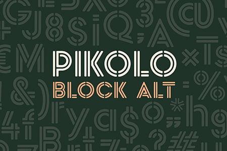 Pikolo Block Alt 艺术双线装饰字体