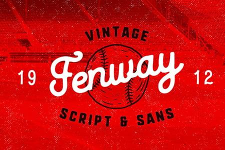 Fenway 复古艺术字体设计