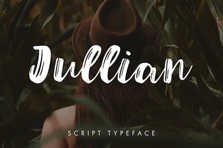 Jullian手写笔刷字体