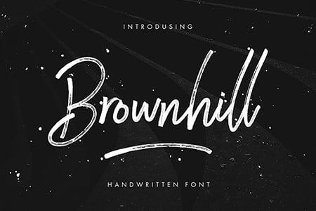 Brownhill柔和笔触手写字体