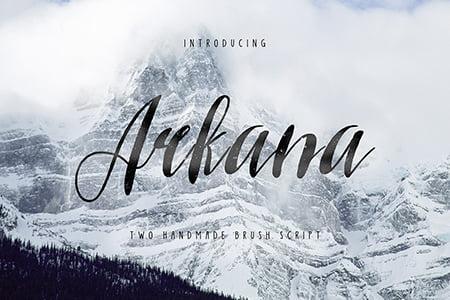 Arkana优雅的手写笔刷字体