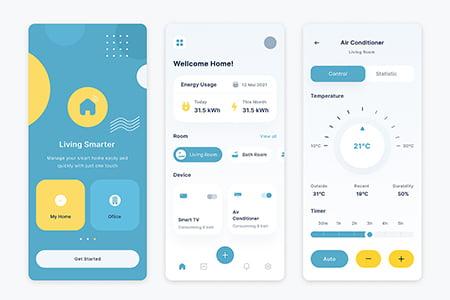 智能家居控制应用UI界面