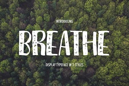 Breathe呼吸粉笔笔刷字体