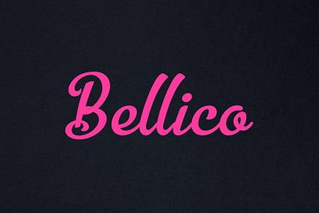Bellico奇妙曲线手写体