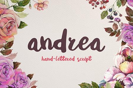 Andrea精美手绘字体