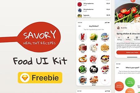 在线美食UI界面设计
