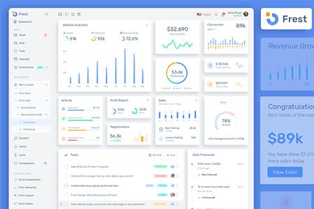 Frest – 干净的Bootstrap管理仪表板模板