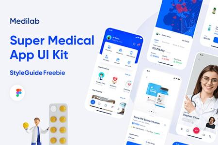 Medilab在线医疗健康应用App Ui设计