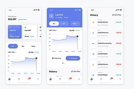 金融区块链应用 App Ui界面