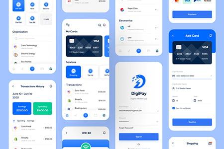 钱包支付应用 App Ui 界面