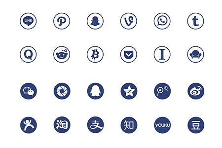 网络社交图标
